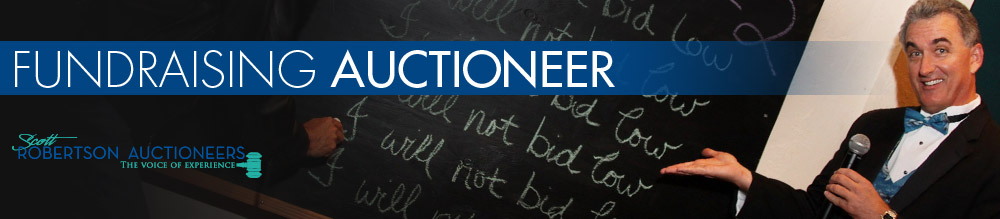 Fundraising Auctioneer - Scott Robertson Auctioneers Blog